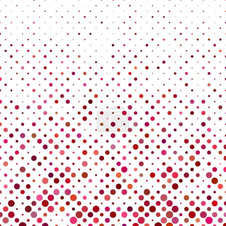 Illustration for Colored abstract dot pattern background design - vector illustration - Royalty Free Image