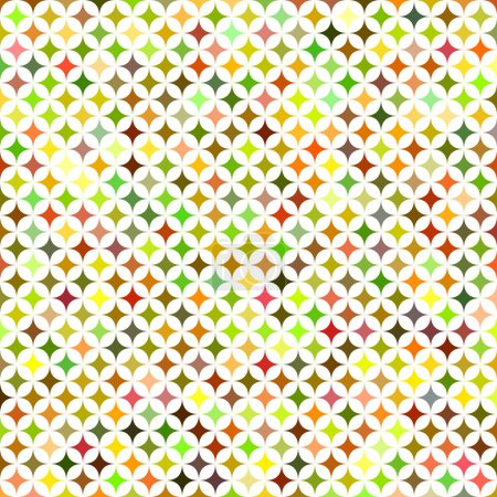 Multicolored abstract star background design