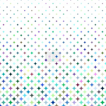 Illustration for Multicolored abstract star pattern background design - vector illustration - Royalty Free Image