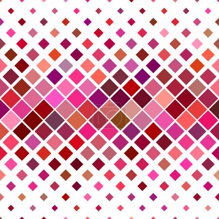 Illustration for Colorful abstract square pattern background - vector illustration - Royalty Free Image