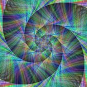 Computer generated spiral fractal background
