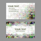 Multicolor abstract triangle mosaic business card template design