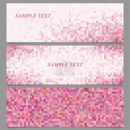 Abstract square mosaic banner design template set