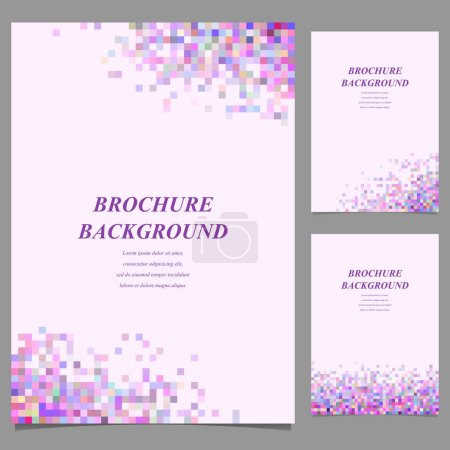 Illustration for Modern brochure template design from mosaic squares - Royalty Free Image