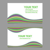 Colorful abstract wave design business card template set