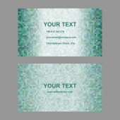 Green abstract vector business card template design