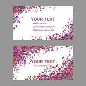Multicolor chaotic triangle business card design