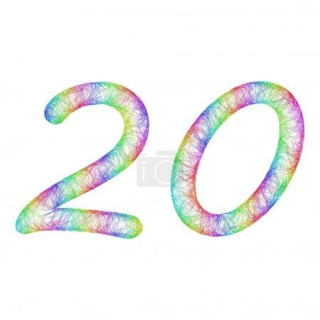 Rainbow sketch anniversary design - number 20