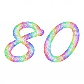 Rainbow sketch anniversary design - number 80