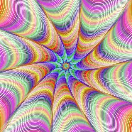 Illustration for Colorful abstract fractal digital art background design - Royalty Free Image