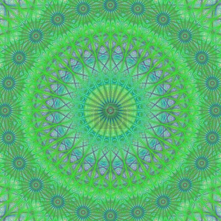 Green abstract mandala structure design background vector