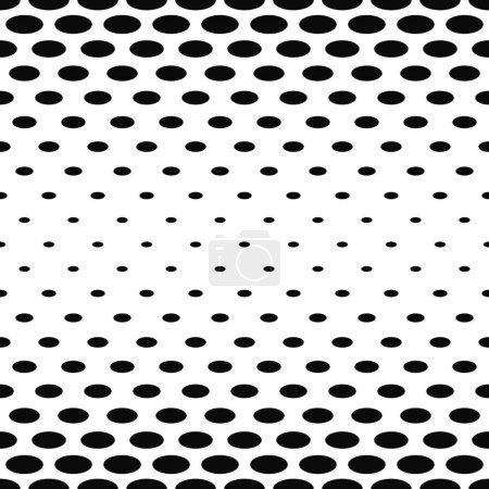 Illustration for Abstract black and white ellipse pattern design - Royalty Free Image