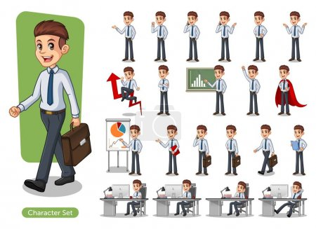Set of businessman vector illustration
