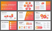 Big infographics in modern gradient style Vector illustrations about digital projects management clients brief design and communication Use in website corporate report presentation advertising marketing