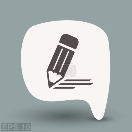 Illustration for Pictograph of note. Vector concept illustration for design - Royalty Free Image