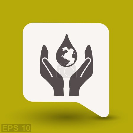 Pictograph of eco concept