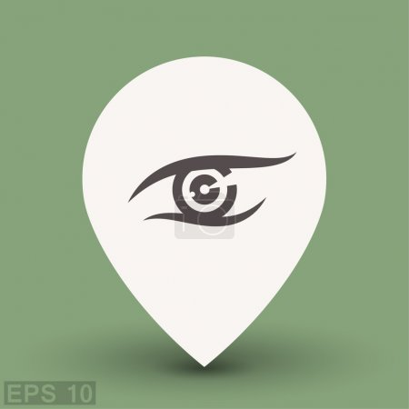 Pictograph of eye  for design.