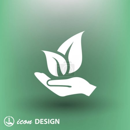 Illustration for Environment saving concept icon, vector illustration - Royalty Free Image