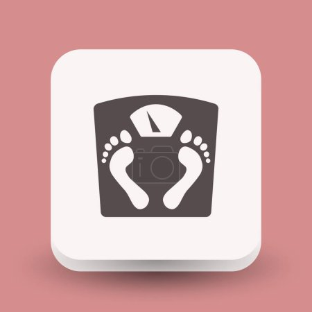 Illustration for Pictograph of bathroom scale icon, vector illustration - Royalty Free Image