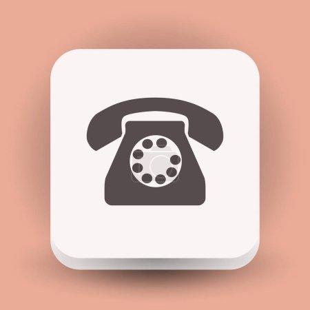 Old telephone icon