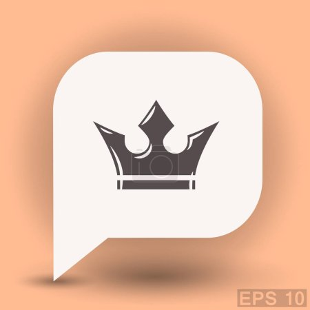 Crown in dialog bubble