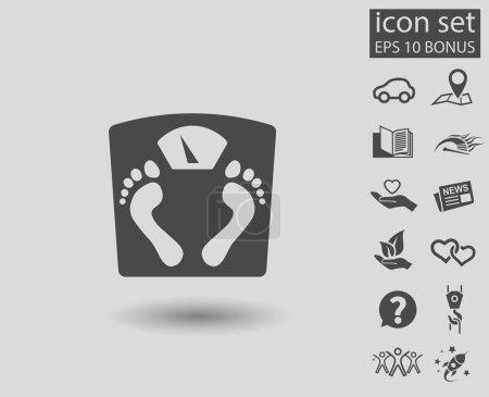 Bathroom scales icon