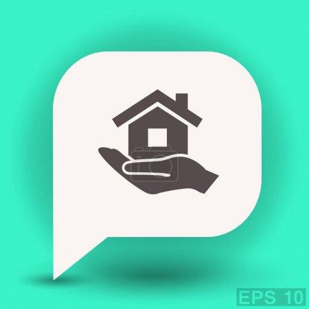 Illustration pour Pictogramme de maison icône, illustration vectorielle - image libre de droit