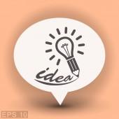 Ikona žárovky idea