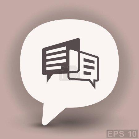 Illustration pour Pictogramme de message ou de chat. icône de vecteur - image libre de droit