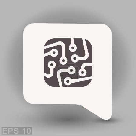 Illustration for Pictograph of circuit board, vector illustration - Royalty Free Image