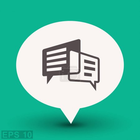 Illustration for Pictograph of message or chat. vector icon - Royalty Free Image