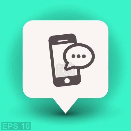 Ilustración de Pictograma de mensaje o chat. icono de Vector - Imagen libre de derechos
