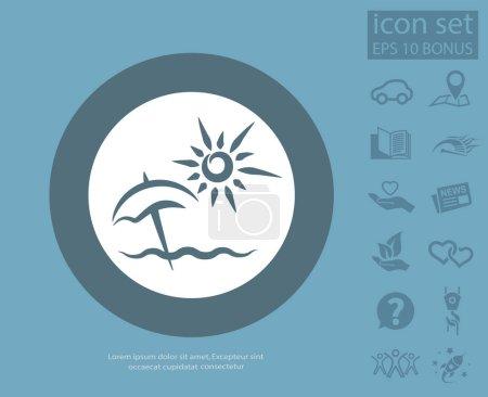 Summer vacation design icon