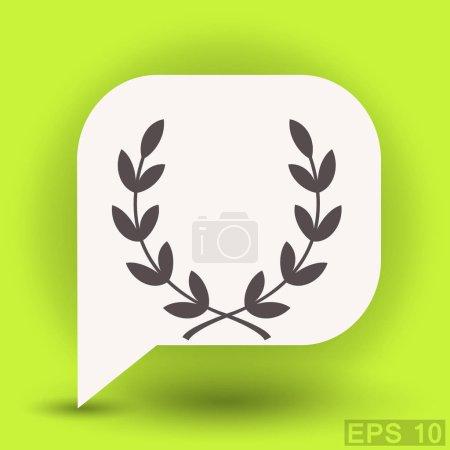 Laurel wreath flat design icon