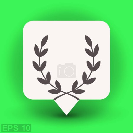Laurel wreath flat design icon