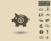 Prasátko ikona