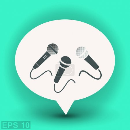 Pictograph of microphone icon