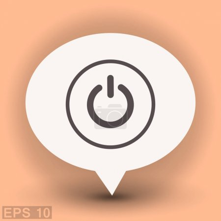 Illustration for Pictograph of power button, vector icon - Royalty Free Image