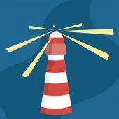 Cartoon light beacon vector illustration