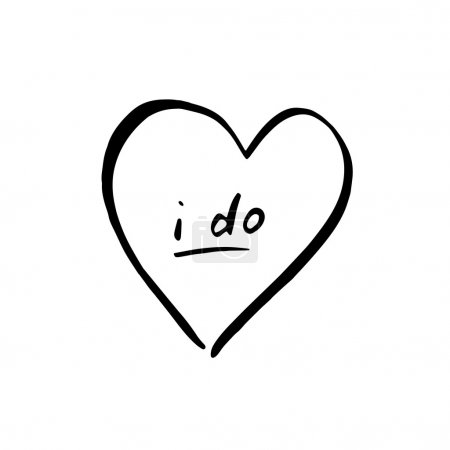 i do words in heart icon