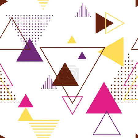 Illustration for Vector illustration design of triangles pattern - Royalty Free Image