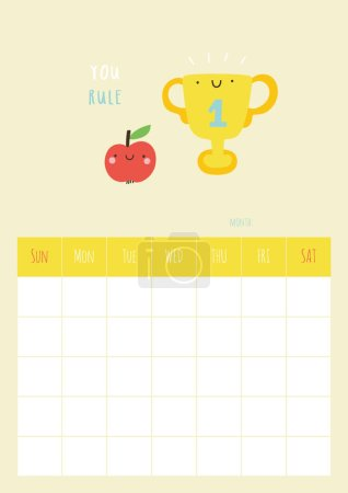 calendar for month with apple