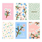 Set with six greeting cards
