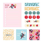 Stationery and Stickers set