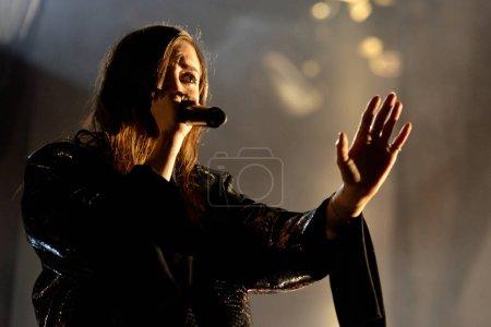 Photo pour BARCELONA - 14 JUIN : Lykke Li (chanteuse et auteure-compositrice suédoise) se produit au Sonar Festival . - image libre de droit