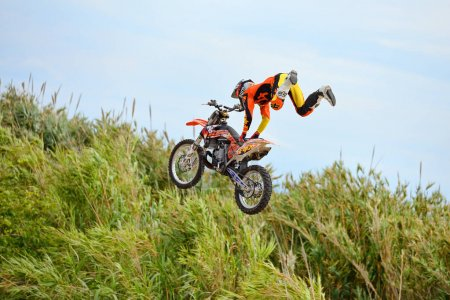 professional rider at the FMX