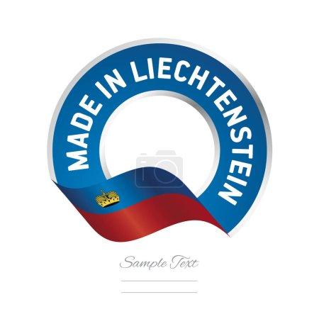 Made in Liechtenstein flag blue color label logo icon