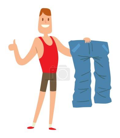 Beauty fitness man weight loss