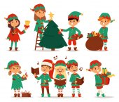 Santa Claus Kinder Cartoon Elf Helfer