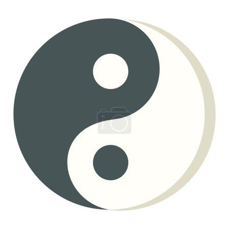 Yin Yang icon isolated vector.